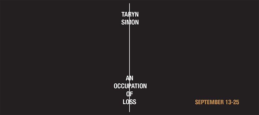 Taryn Simon: An Occupation of Loss