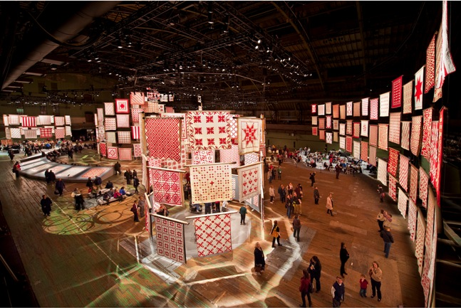 Photo from Infinite Variety: Three Centuries of Red and White Quilts on March 31, 2011